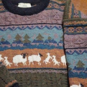 Mens Concept Britain Wool Sweater Size S